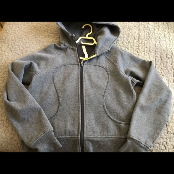 Grey with green scuba hoodie